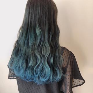 ロング スポーツ ネイビー ブルー ヘアスタイルや髪型の写真・画像 ヘアスタイルや髪型の写真・画像