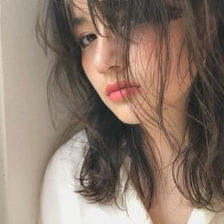 抜け感 ミディアム ガーリー 大人かわいい ヘアスタイルや髪型の写真・画像