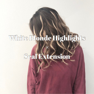 外国人風カラー セミロング ストリート 成人式 ヘアスタイルや髪型の写真・画像