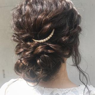 バレッタ ロング ロープ編み ナチュラル ヘアスタイルや髪型の写真・画像