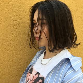 ワンレングス こなれ感 ボブ ナチュラル ヘアスタイルや髪型の写真・画像