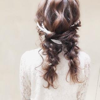 デート ガーリー 結婚式 ロング ヘアスタイルや髪型の写真・画像