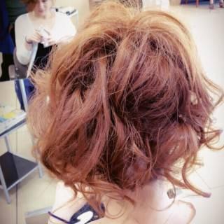 大人かわいい ヘアアレンジ ロング ガーリー ヘアスタイルや髪型の写真・画像