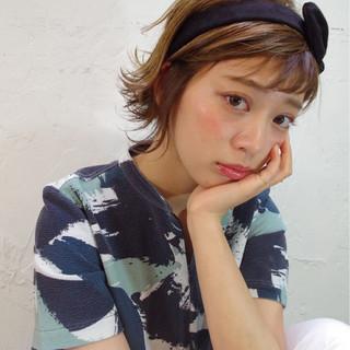 アッシュ 簡単ヘアアレンジ ピュア ガーリー ヘアスタイルや髪型の写真・画像