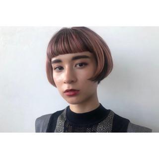 大人可愛い 3Dハイライト ショートボブ モード ヘアスタイルや髪型の写真・画像 ヘアスタイルや髪型の写真・画像