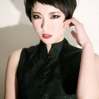 黒髪 ショート モード ベリーショート ヘアスタイルや髪型の写真・画像 ヘアスタイルや髪型の写真・画像