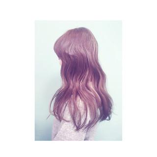 ロング ゆるふわ ガーリー 外国人風 ヘアスタイルや髪型の写真・画像