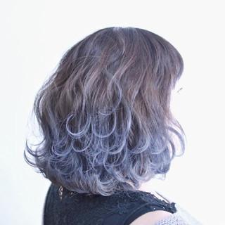 透明感 グラデーションカラー ボブ 外国人風 ヘアスタイルや髪型の写真・画像