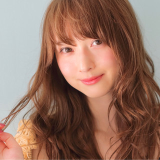ピュア 前髪あり ロング ナチュラル ヘアスタイルや髪型の写真・画像