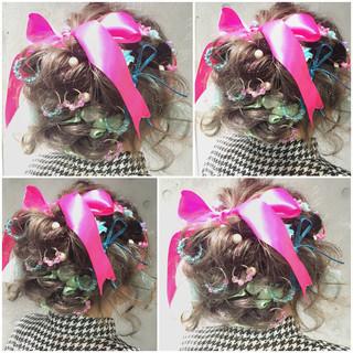 ショート ミディアム フェミニン ゆるふわ ヘアスタイルや髪型の写真・画像