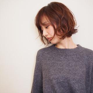リラックス デート パーマ アンニュイ ヘアスタイルや髪型の写真・画像
