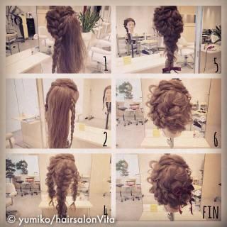 結婚式 ショート ナチュラル ヘアアレンジ ヘアスタイルや髪型の写真・画像