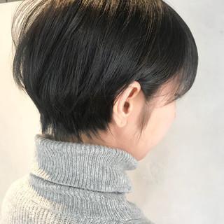 ナチュラル 小顔 ショート バレンタイン ヘアスタイルや髪型の写真・画像 ヘアスタイルや髪型の写真・画像
