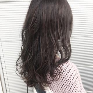 ピンク グレージュ 上品 ラベンダー ヘアスタイルや髪型の写真・画像