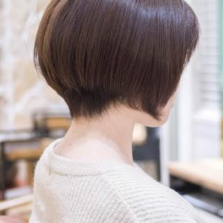 大人かわいい ハンサムショート ナチュラル ショート ヘアスタイルや髪型の写真・画像