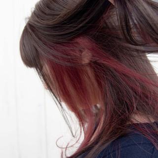 ストリート ロング ブリーチ インナーピンク ヘアスタイルや髪型の写真・画像 ヘアスタイルや髪型の写真・画像