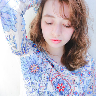外国人風 ピュア パーマ くせ毛風 ヘアスタイルや髪型の写真・画像