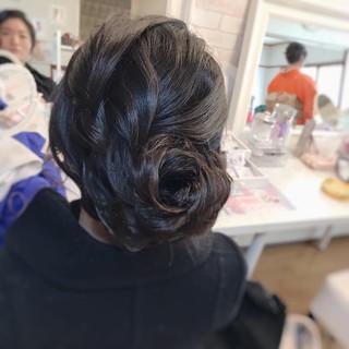 エレガント アンニュイほつれヘア 着物 ヘアアレンジ ヘアスタイルや髪型の写真・画像