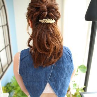 簡単ヘアアレンジ ヘアアレンジ 大人かわいい 大人女子 ヘアスタイルや髪型の写真・画像