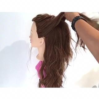 ヘアアレンジ 梅雨 フェミニン ロング ヘアスタイルや髪型の写真・画像