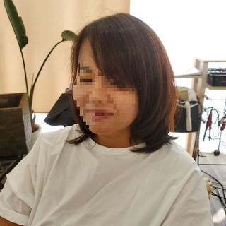 縮毛矯正 フェミニン ミディアム ストカール ヘアスタイルや髪型の写真・画像