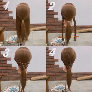 簡単ヘアアレンジ こなれ感 セミロング バレンタイン ヘアスタイルや髪型の写真・画像