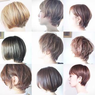 小顔ショート ナチュラル ハンサムショート ショートボブ ヘアスタイルや髪型の写真・画像