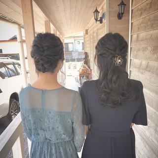 ヘアアレンジ 結婚式 ナチュラル 成人式 ヘアスタイルや髪型の写真・画像