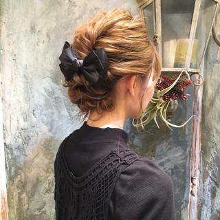 ヘアアレンジ ショート 簡単ヘアアレンジ ハーフアップ ヘアスタイルや髪型の写真・画像