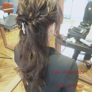 ゆるふわ ハーフアップ ロング ショート ヘアスタイルや髪型の写真・画像