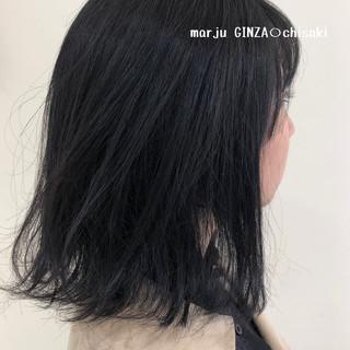 おしゃれさんと繋がりたい 暗髪 就活 ミディアム ヘアスタイルや髪型の写真・画像
