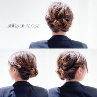 ヘアアレンジ 結婚式 セルフアレンジ アップスタイル ヘアスタイルや髪型の写真・画像