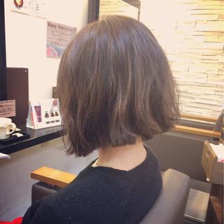 ボブ 暗髪 ストリート 大人かわいい ヘアスタイルや髪型の写真・画像