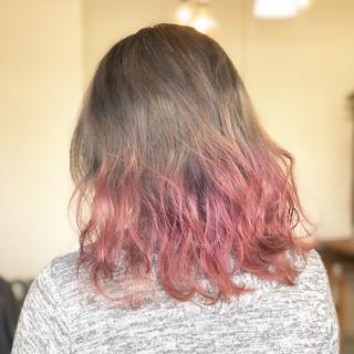ミルクティーベージュ ラベンダー ラベンダーピンク ミルクティー ヘアスタイルや髪型の写真・画像