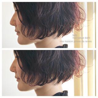 ウェーブ ショート ボブ 外国人風 ヘアスタイルや髪型の写真・画像