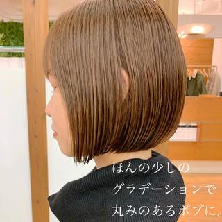 大人可愛い ショート ミニボブ ナチュラル ヘアスタイルや髪型の写真・画像