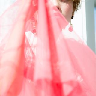 ハイトーン フェミニン ハイライト ヘアアレンジ ヘアスタイルや髪型の写真・画像
