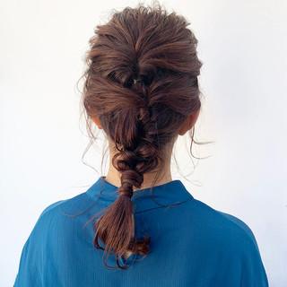 デート 簡単ヘアアレンジ ヘアアレンジ セミロング ヘアスタイルや髪型の写真・画像