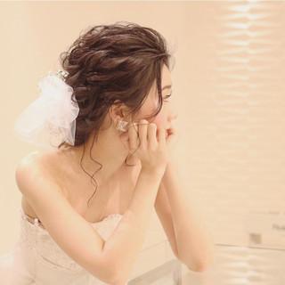 結婚式 ガーリー ヘアアレンジ 大人かわいい ヘアスタイルや髪型の写真・画像 ヘアスタイルや髪型の写真・画像