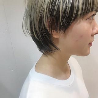 ショート 簡単ヘアアレンジ アウトドア 黒髪 ヘアスタイルや髪型の写真・画像