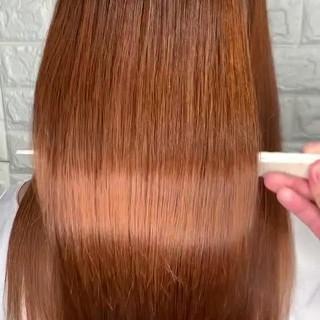 ヘアアレンジ ストレート 縮毛矯正 ロング ヘアスタイルや髪型の写真・画像