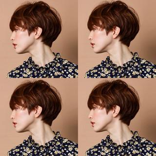 ショート 小顔ショート 簡単スタイリング 外国人風 ヘアスタイルや髪型の写真・画像