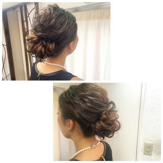 ショート セミロング 波ウェーブ 簡単ヘアアレンジ ヘアスタイルや髪型の写真・画像
