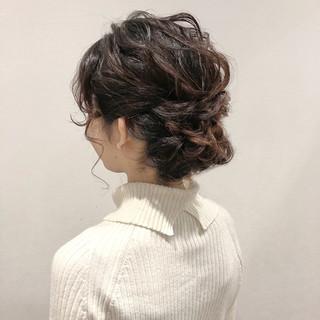デート 二次会 結婚式 簡単ヘアアレンジ ヘアスタイルや髪型の写真・画像