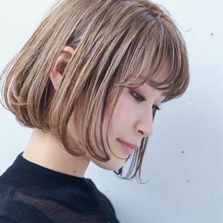 ハイトーン ボブ モード ボーイッシュ ヘアスタイルや髪型の写真・画像