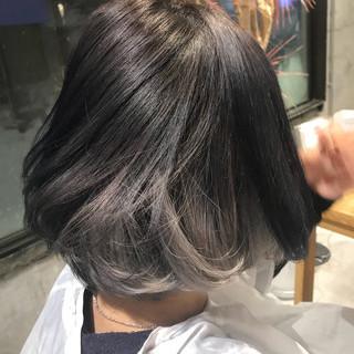 ガーリー 外国人風カラー ボブ ダブルカラー ヘアスタイルや髪型の写真・画像