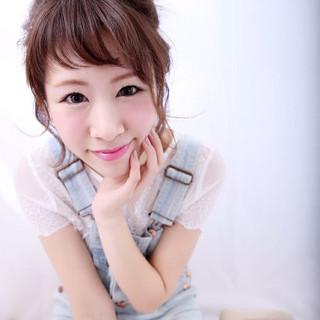 ショート ヘアアレンジ かわいい ガーリー ヘアスタイルや髪型の写真・画像