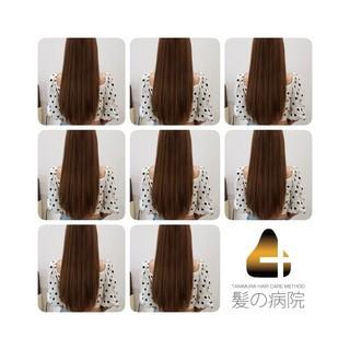 髪の病院 ロング ナチュラル 頭皮ケア ヘアスタイルや髪型の写真・画像