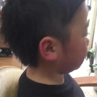 ボーイッシュ 子供 坊主 ショート ヘアスタイルや髪型の写真・画像