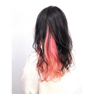 ブリーチカラー ストリート 春 インナーピンク ヘアスタイルや髪型の写真・画像